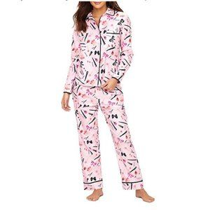 NWT Kate Spade Dolled Up Pink Flannel Pajamas M